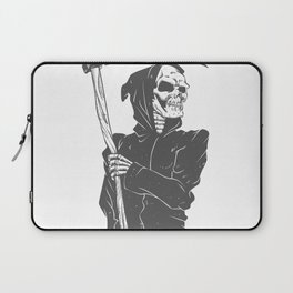 Grim reaper black and white Laptop Sleeve