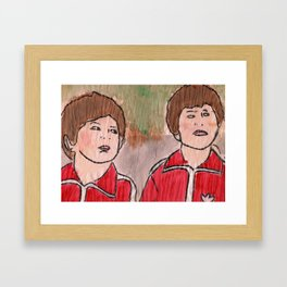 Ari! Uzi!  Framed Art Print