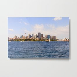 Panorama of the Central Business District, Sydney, Australia Metal Print