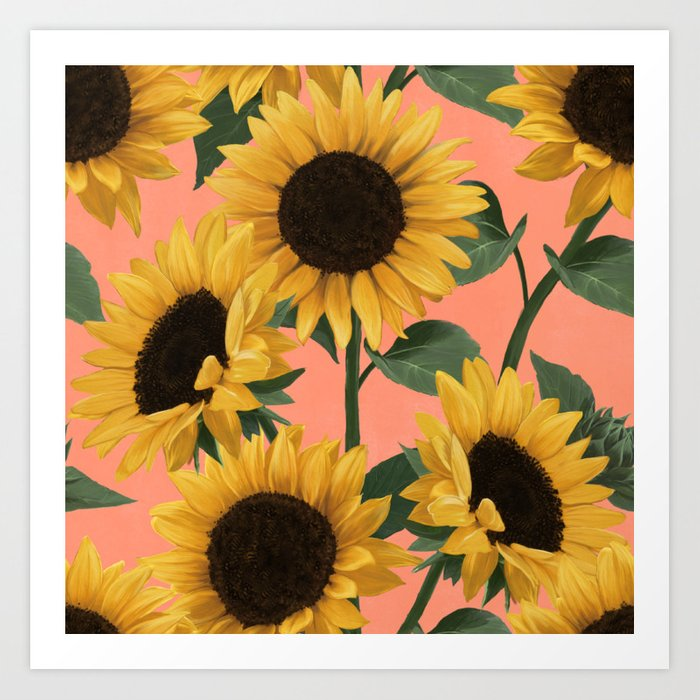 sunny day sunflowers Kunstdrucke