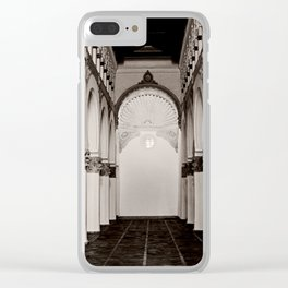 The Historic Arches in the Synagogue of Santa María la Blanca, Toledo Spain (4) Clear iPhone Case