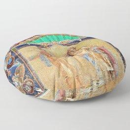 House of Neptune & Amphitrite Mosaic Tesserae Tile Depiction, Herculaneum, Italy Floor Pillow