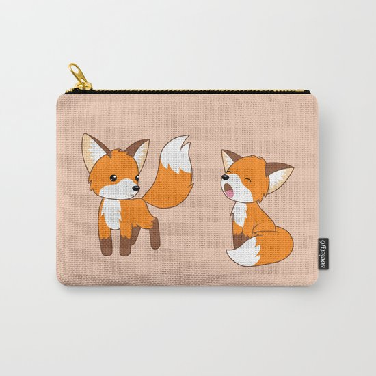 Cute Little Foxes Carry-All Pouch
