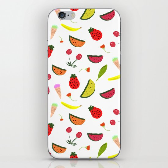 Vegan Goodies Pattern iPhone Skin