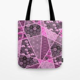 Abstract Artwork Pink Patterns Tote Bag