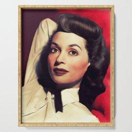 Lilli Palmer, Vintage Actress Serving Tray