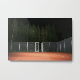 Black Lodge Tennis Court Metal Print