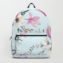 Floral Square Acqua Backpack