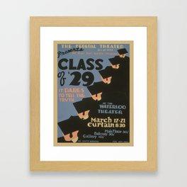 Vintage poster - Class of '29 Framed Art Print