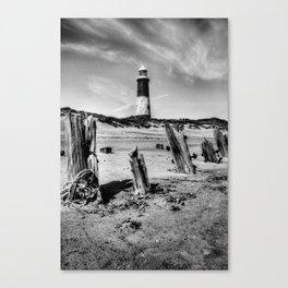 Spurn Point Lighthouse and Groynes Canvas Print