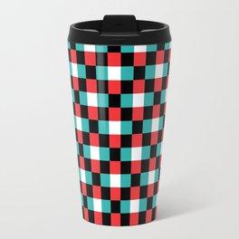 Pixeled Squares Travel Mug