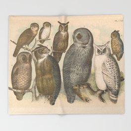 Naturalist Owls Throw Blanket