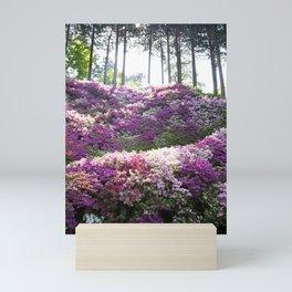 Romantic Floral Hill Landscape Mini Art Print