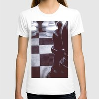 chess T-shirts featuring Chess Perspective by Thick Paint Works