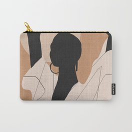 Minimal Abstract Art Sunset Girl 2 Carry-All Pouch