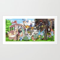 ghibli Art Prints featuring Ghibli Tribute by Hyung86