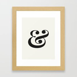 Ampersand - Light and Delicate - Typography Lovers Framed Art Print