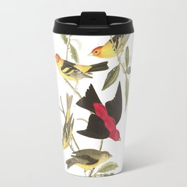 Louisiana Taneger and Scarlet Taneger - Vintage Illustration Travel Mug