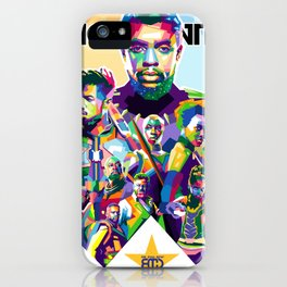 Blak Panther Series In Pop Art iPhone Case