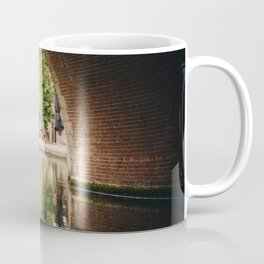 Photo of the Oudegracht with the reflection of Typical Dutch Canal Houses in Utrecht, Holland/The Netherlands | Fine Art Colorful Travel Photography |  Coffee Mug