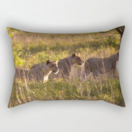 Lions at Tembe elephant park Rectangular Pillow