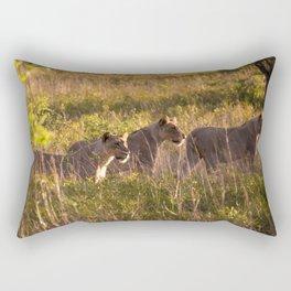Lions at Tembe elephant park Rectangular Pillow