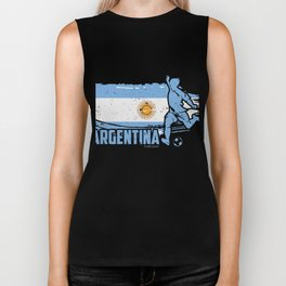 Football Worldcup Argentina Argentines Soccer Team Sports Footballer Rugby Gift Biker Tank
