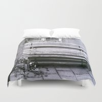 jewish Duvet Covers featuring Many quiet moments to rest by Brown Eyed Lady