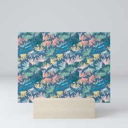 pastel coral print Mini Art Print
