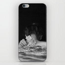 Flower and sea iPhone Skin