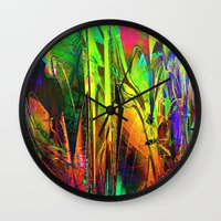 blues Wall Clocks featuring Blues. by Assiyam