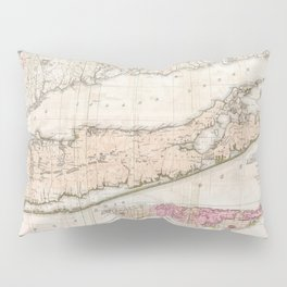 Long and Staten Island Map Pillow Sham
