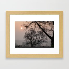 Morning Silhouette Framed Art Print