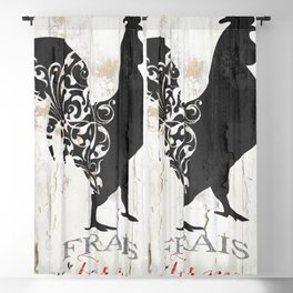 French Farms Rooster Blackout Curtain