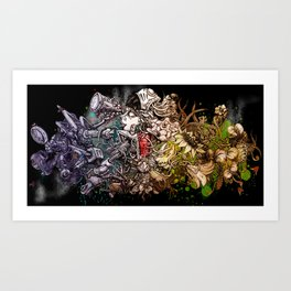 People desire nature- In the night Art Print