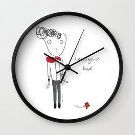 Miss You So Bad Wall Clock
