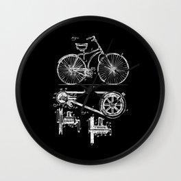 Retro Vintage Bike Lover Print Patent Cycling Gift Wall Clock