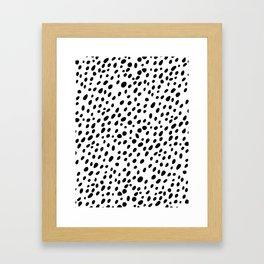 Dalmatian Spots Framed Art Print