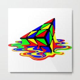 Pyraminx cude painting01B Metal Print