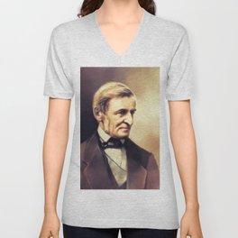 Ralph Waldo Emerson, Literary Legend Unisex V-Neck