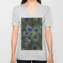 Peacock Flower Unisex V-Neck