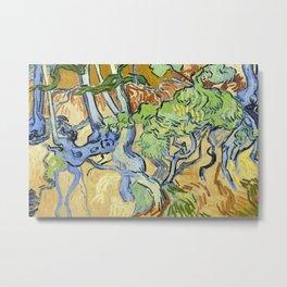 Tree roots by Vincent van Gogh, 1890 Metal Print
