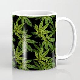 Cannabis Leaf - Black Coffee Mug