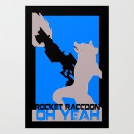 Rocket Raccoon Guardians of the galaxy Art Print