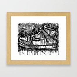Dunk High Ink Framed Art Print