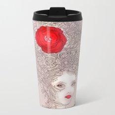 Rose in hair Metal Travel Mug