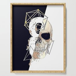 Skull illustration. Serving Tray