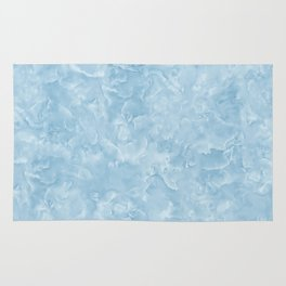 Blue Water Marble Texture Rug