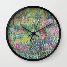 Claude Monet - The Artist's Garden in Giverny Wall Clock