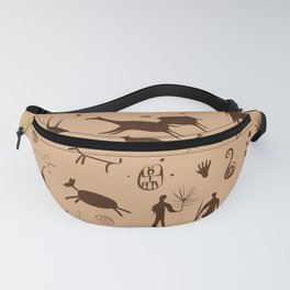 Cave Art Pattern Illustration Fanny Pack